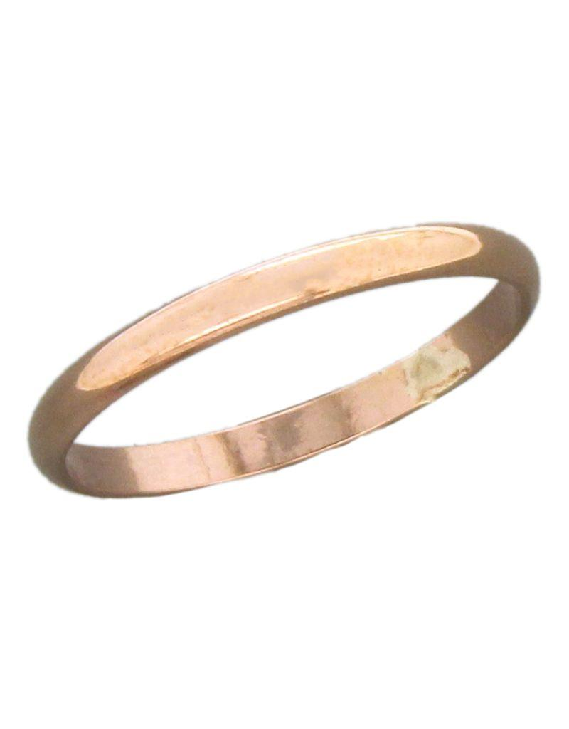 14k Rose Gold Filled 2mm Band Ring