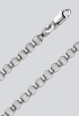 "Sterling Silver Small Charm Link Bracelet 7"""