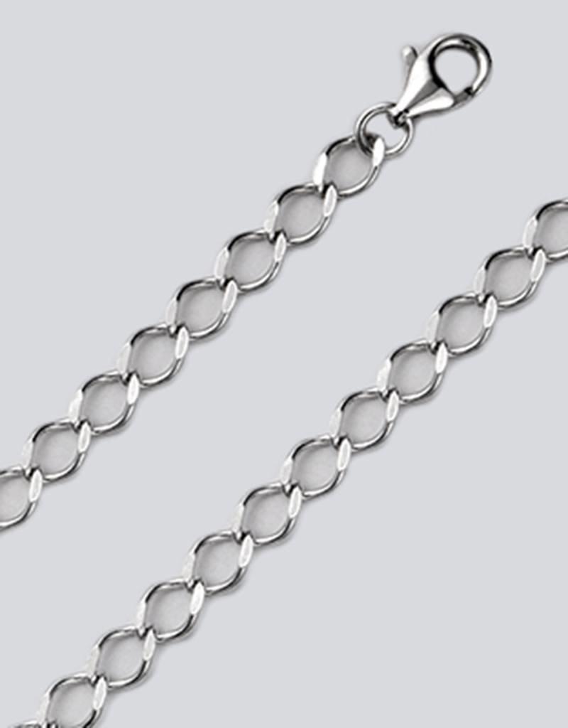 """Sterling Siver Rombo 080 Chain Bracelet 7"""""""