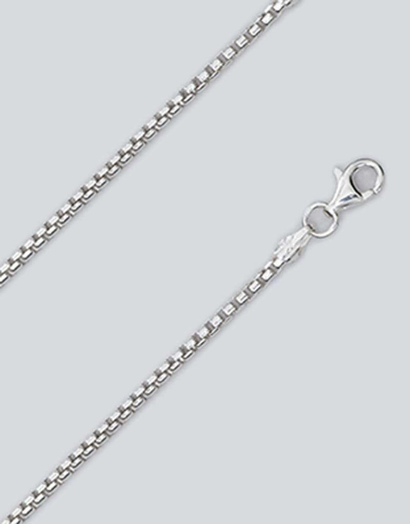 Sterling Silver Round Box 040 Chain Necklace