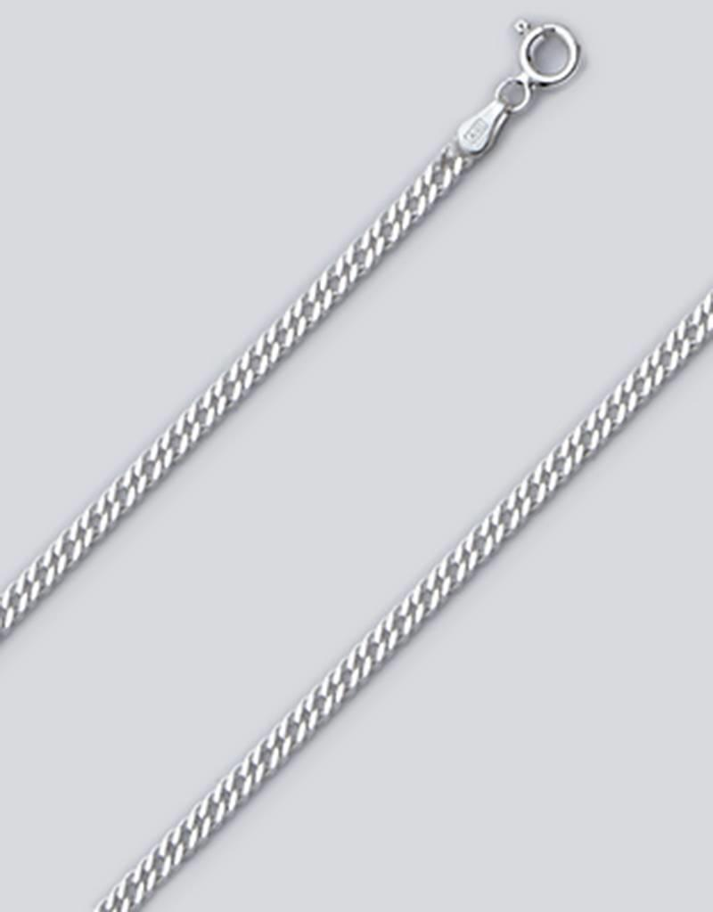 """Sterling Silver Rombo 050 Chain Anklet 9"""""""