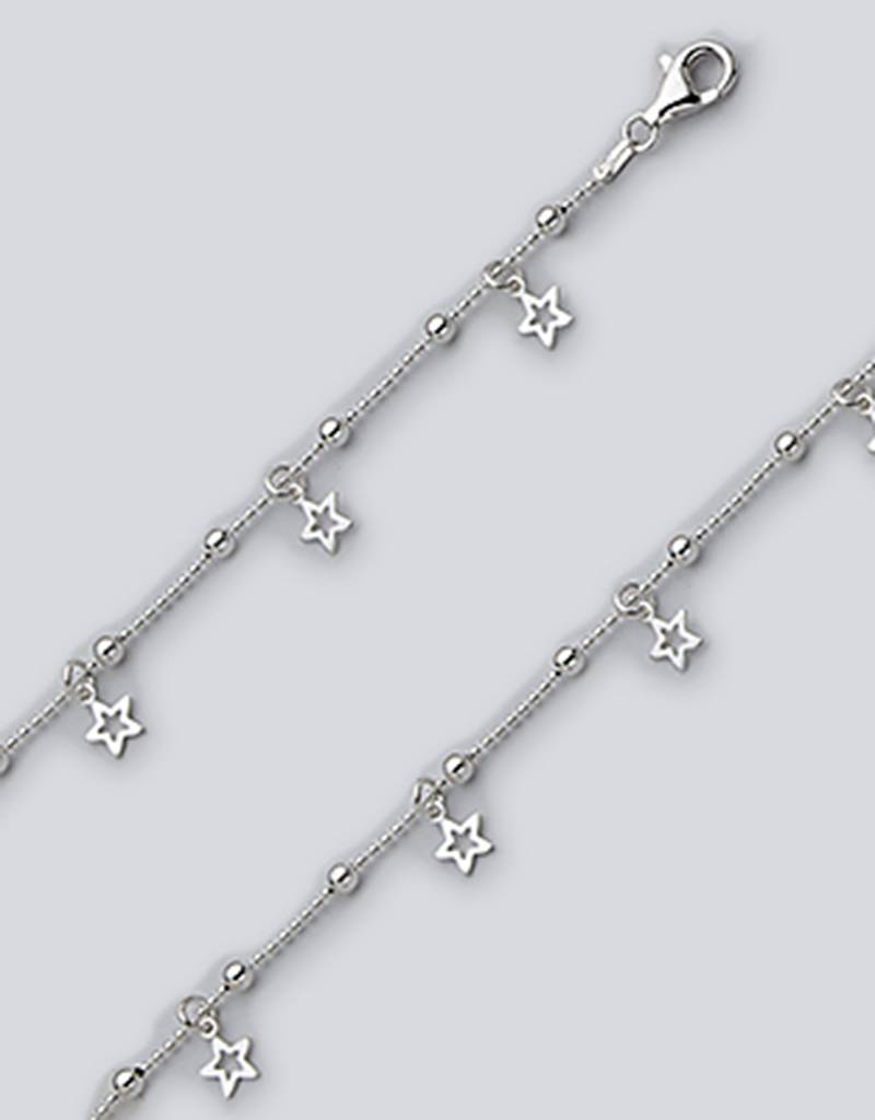 Star Dangle Anklet 9""