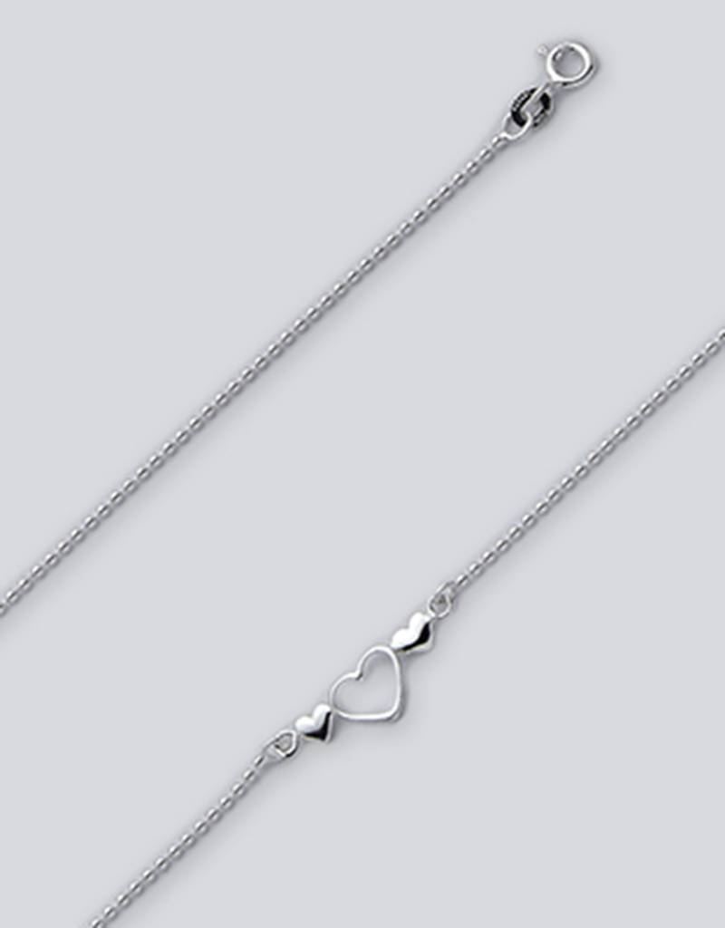"""Bead w/ Hearts Anklet 9"""""""