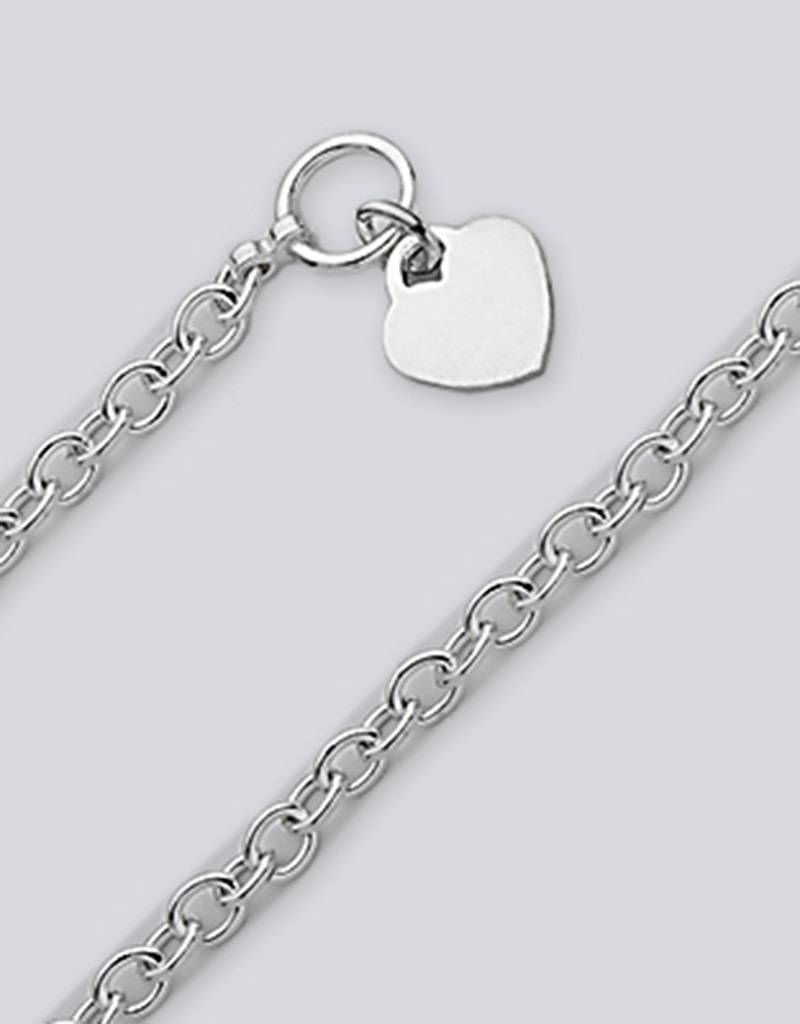 Oval Link 150 Heart Necklace