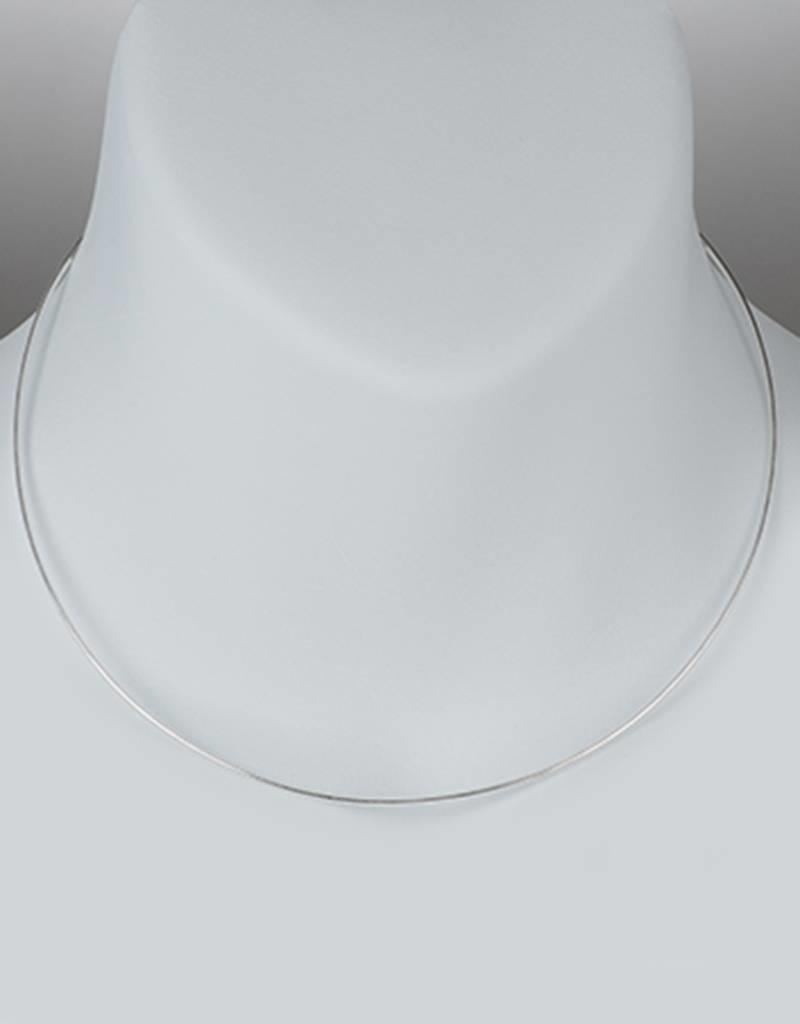 Sterling Silver Round Omega 025 Necklace