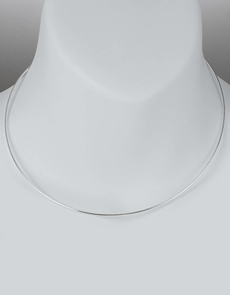 Sterling Silver Round Omega 030 Necklace