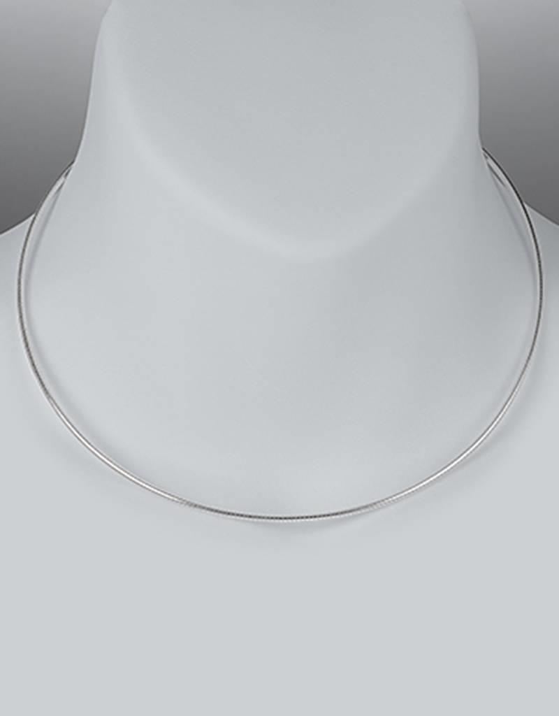 Sterling Silver Round Omega 040 Necklace