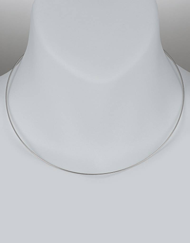 Omega 100 Necklace Rhodium