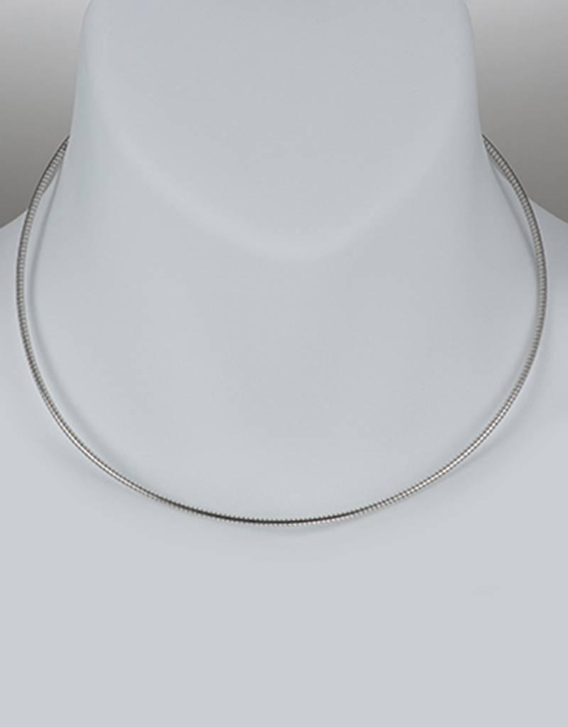 Omega 185 Necklace w/ Rhodium