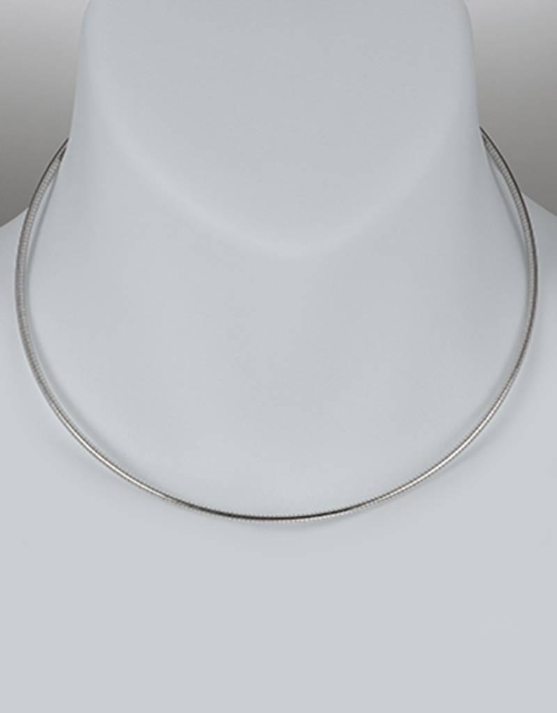 "Omega 215 Necklace w/ Rhodium 18"""
