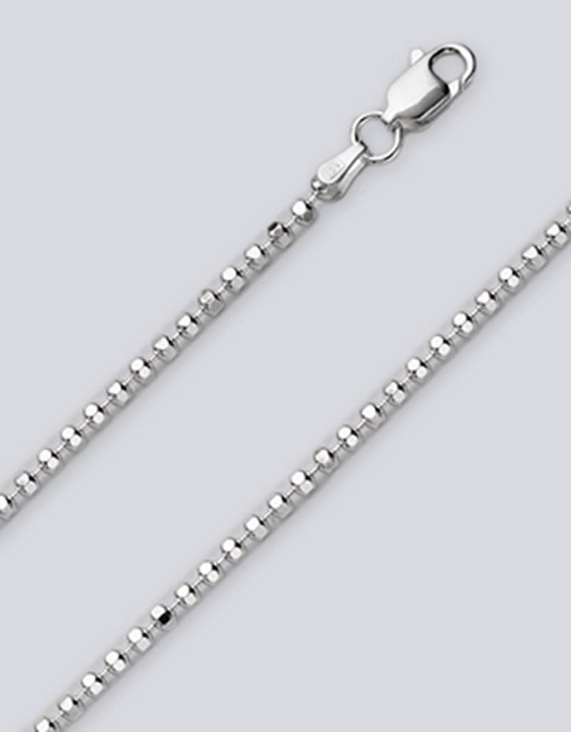 2.2mm D/C Bead Anklet 9""
