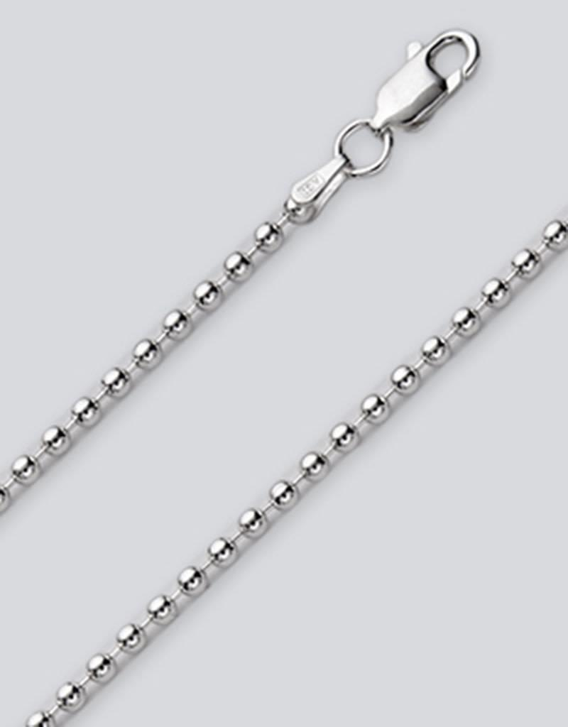 Sterling Silver 3mm Bead Chain Necklace