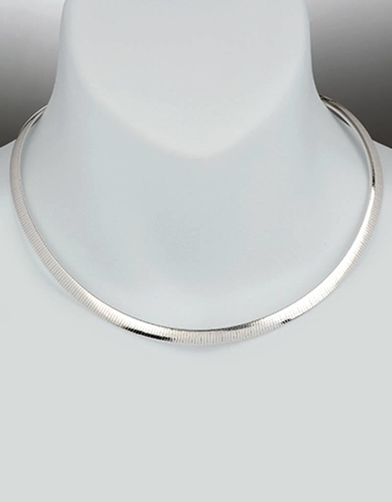 Sterling Silver 6mm Reversible Omega Necklace