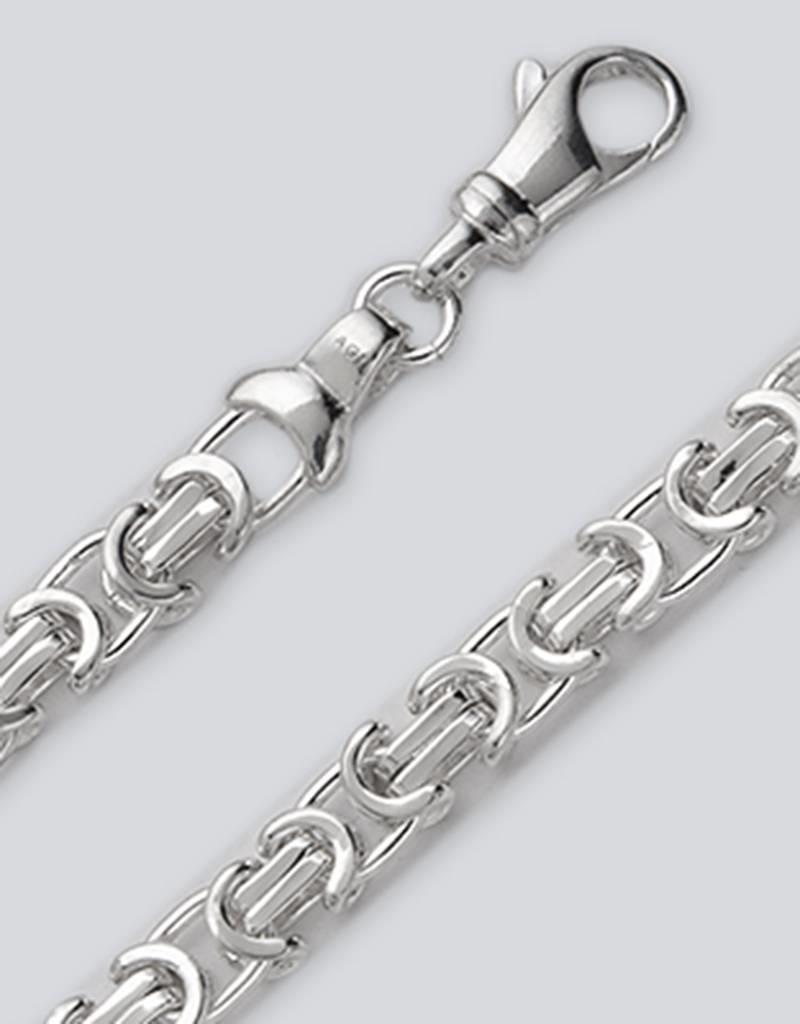 Sterling Silver Flat Byzantine 115 Chain Bracelet