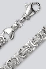 Sterling Silver Flat Byzantine 180 Chain Bracelet