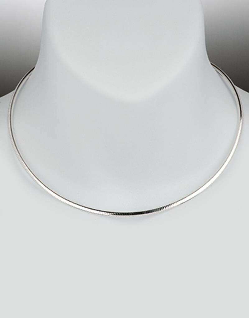Sterling Silver 3mm Reversible Omega Necklace