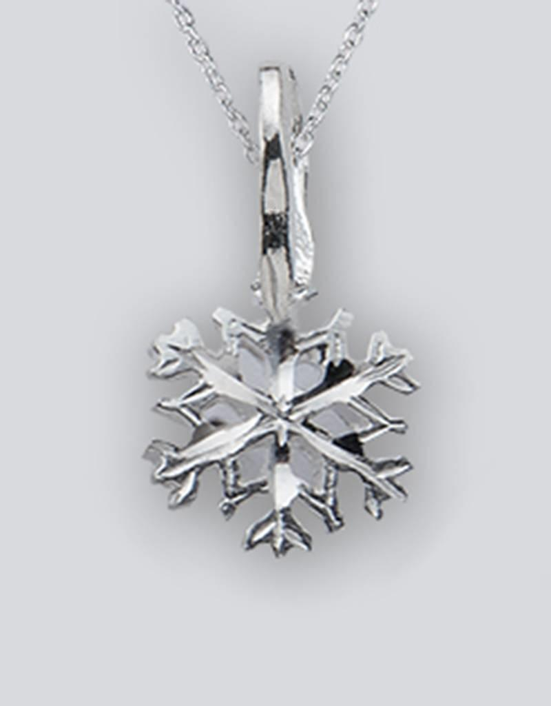 Sterling Silver Snowflake Pendant (Chain Sold Separately)