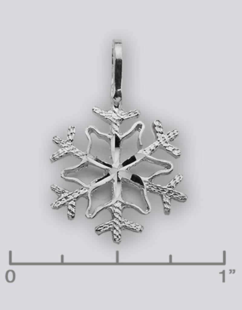 Sterling Silver Snowflake Pendant 17mm