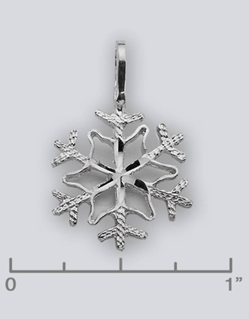 Snowflake Pendant 17mm