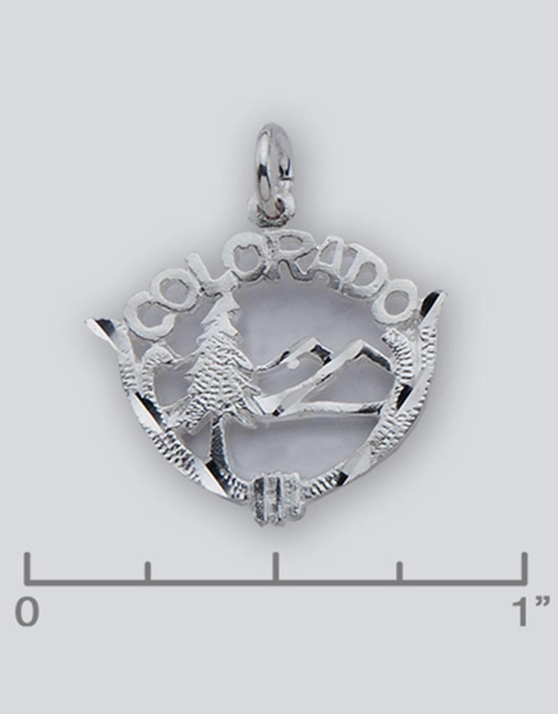 Sterling Silver Colorado Charm 19mm