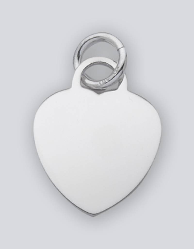 Heart ID Tag Charm 27mm