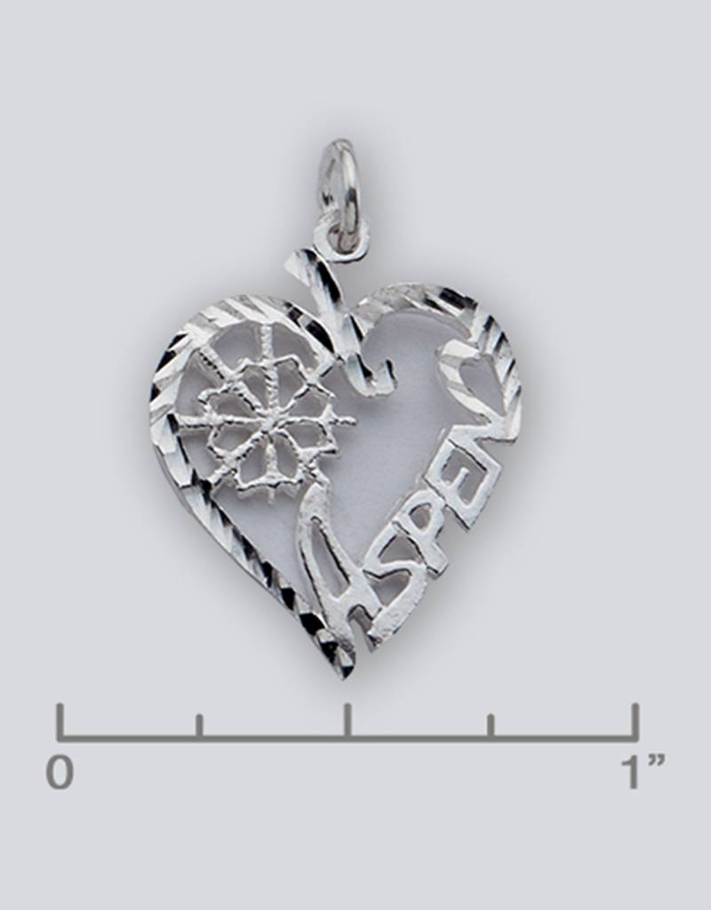 Heart Aspen Charm