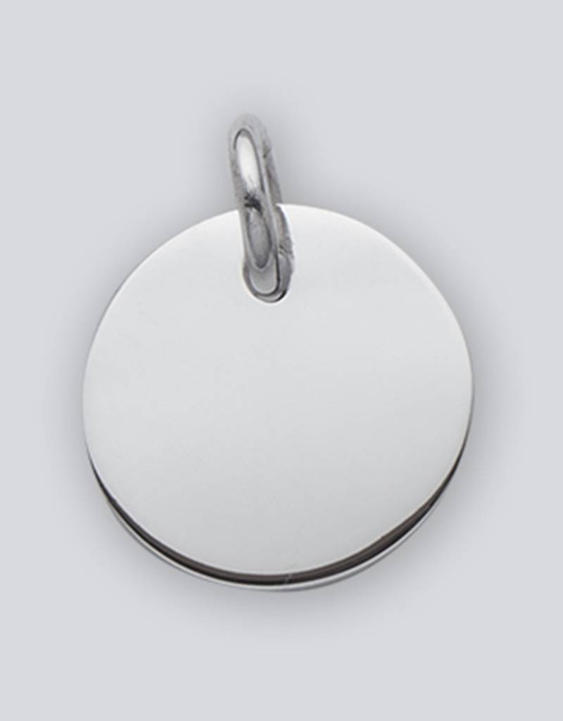 Round ID Tag Pendant 20mm