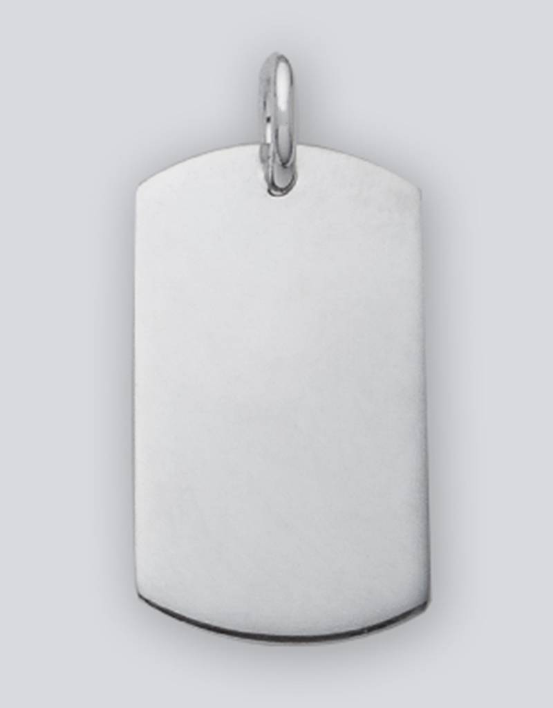 Rectangle ID Tag Pendant 27mm