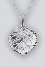 Sterling Silver Aspen Leaf Pendant 19mm (Chain Sold Separately)