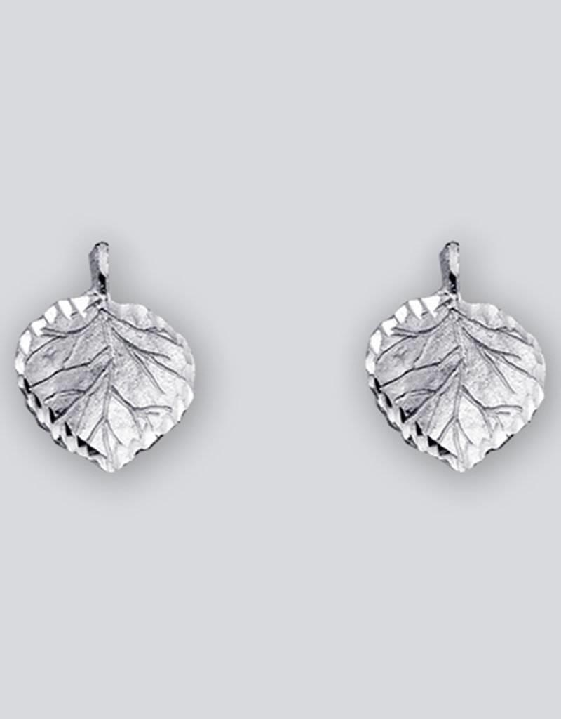 Sterling Silver Aspen Leaf Post Earrings