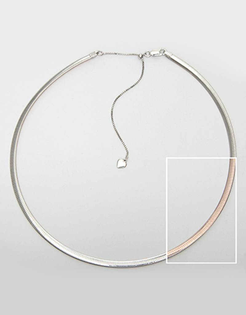"Adjustable 4mm Oval Omega 16""+2"""