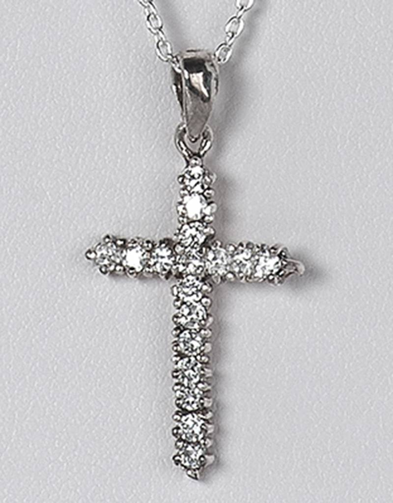 Cross CZ Pendant 24mm