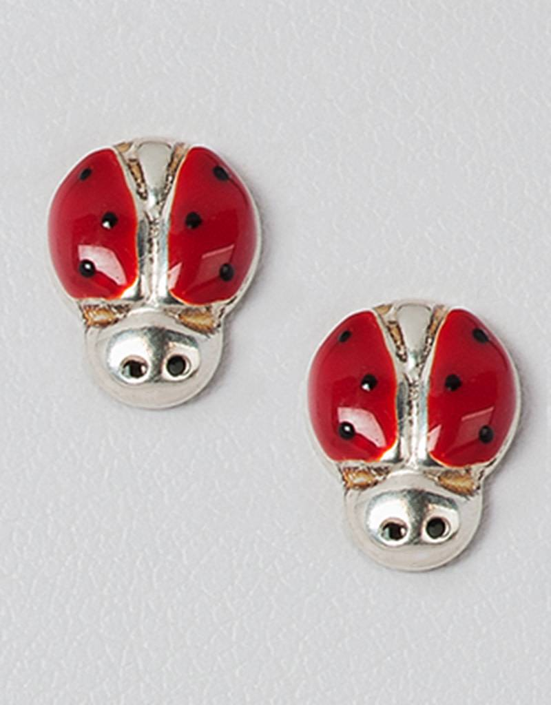 Ladybug Stud Earrings 9.5mm