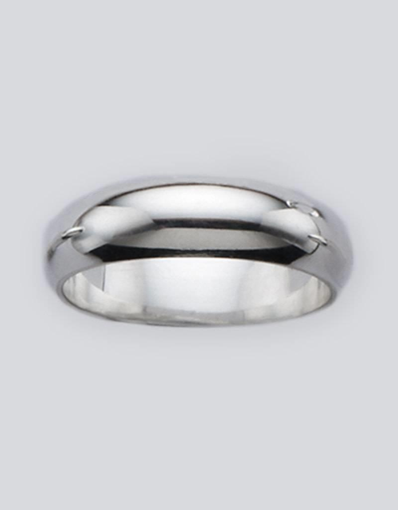 Sterling Silver 6mm Plain Band Ring