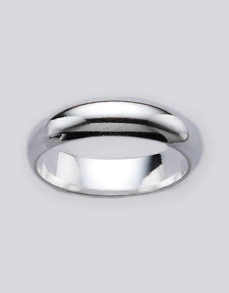 Sterling Silver 5mm Plain Band Ring