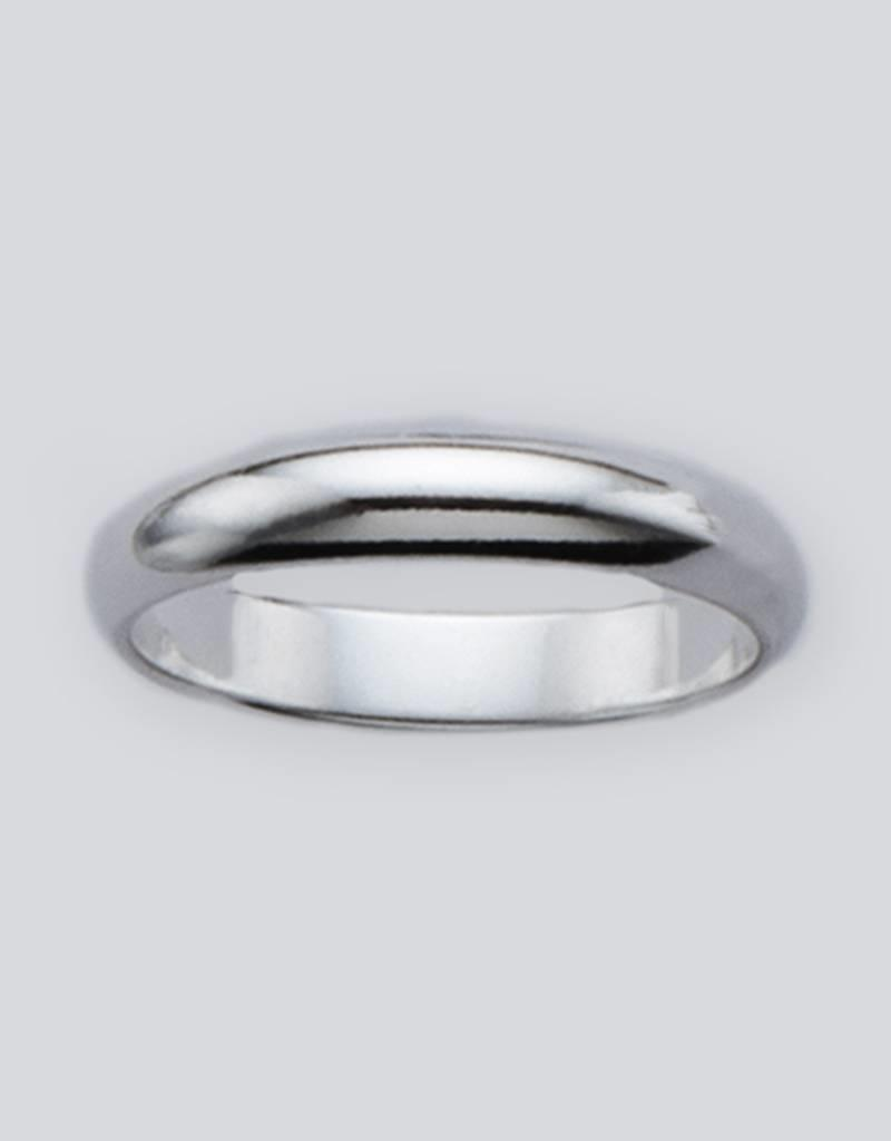 Sterling Silver 4mm Plain Band Ring
