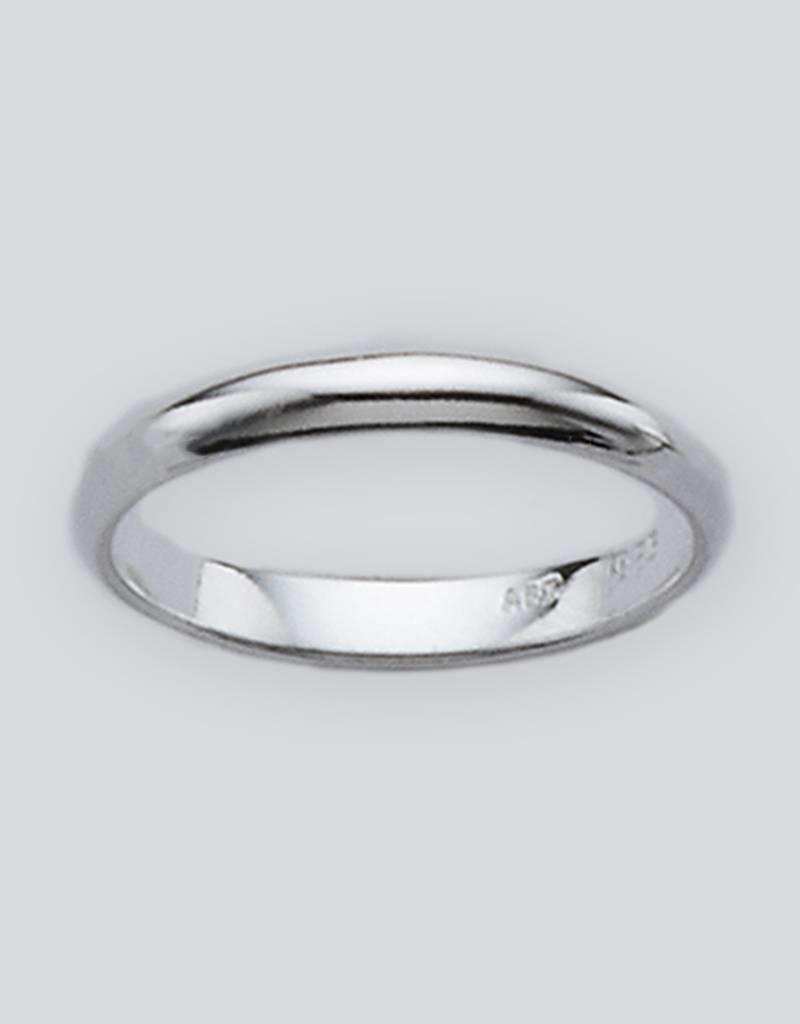 Sterling Silver 3mm Plain Band Ring