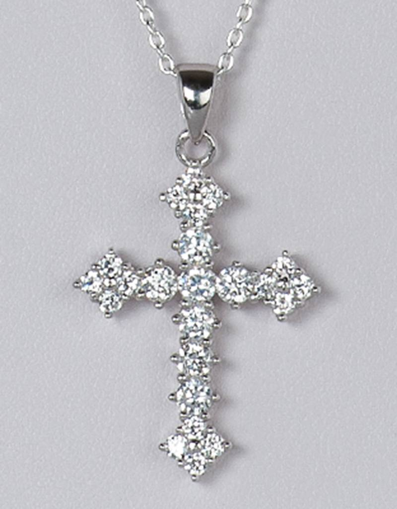 Cross CZ Pendant 28mm