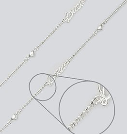 """Love Hearts Anklet 9""""+1"""""""