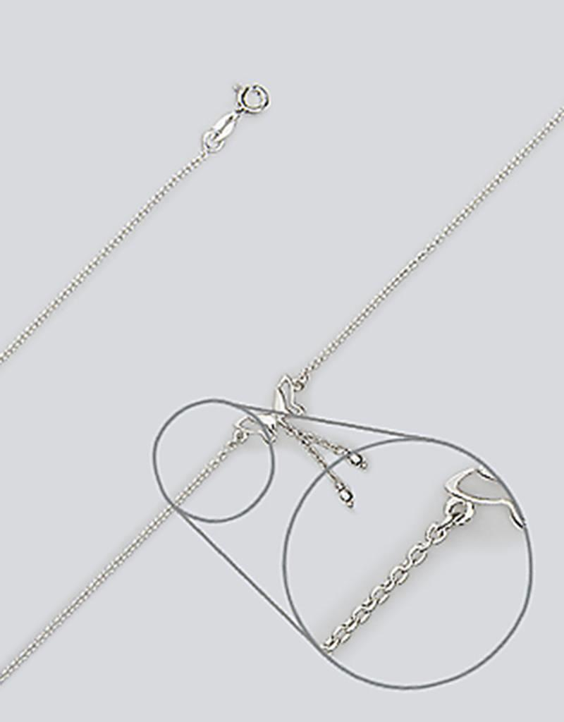 """Sterling Silver Butterfly Anklet 9""""+1"""" Extender"""