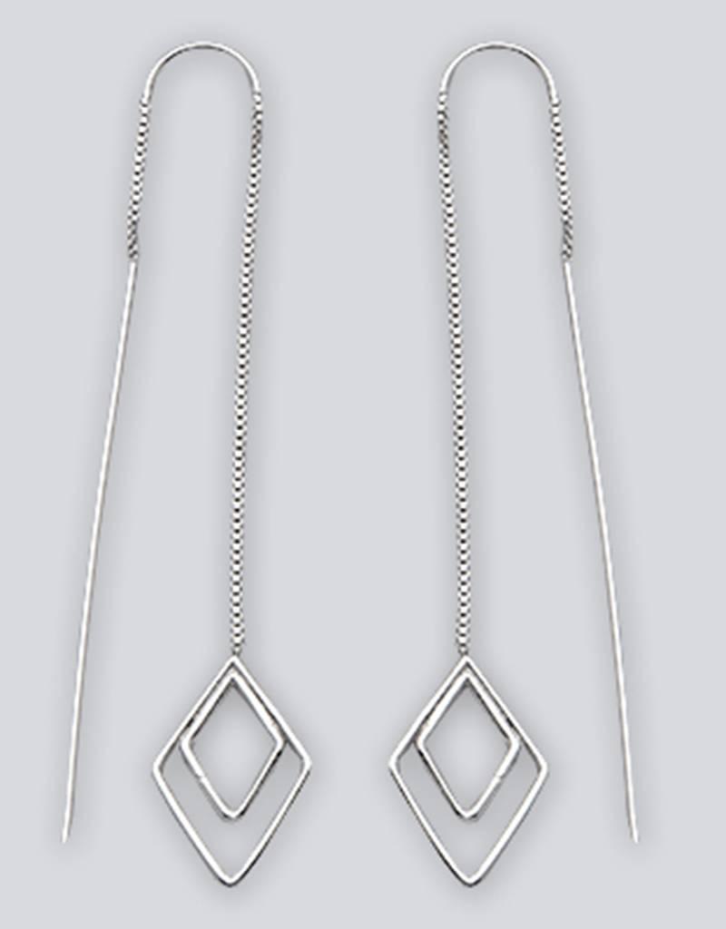 Diamond Shaped Threader Earrings