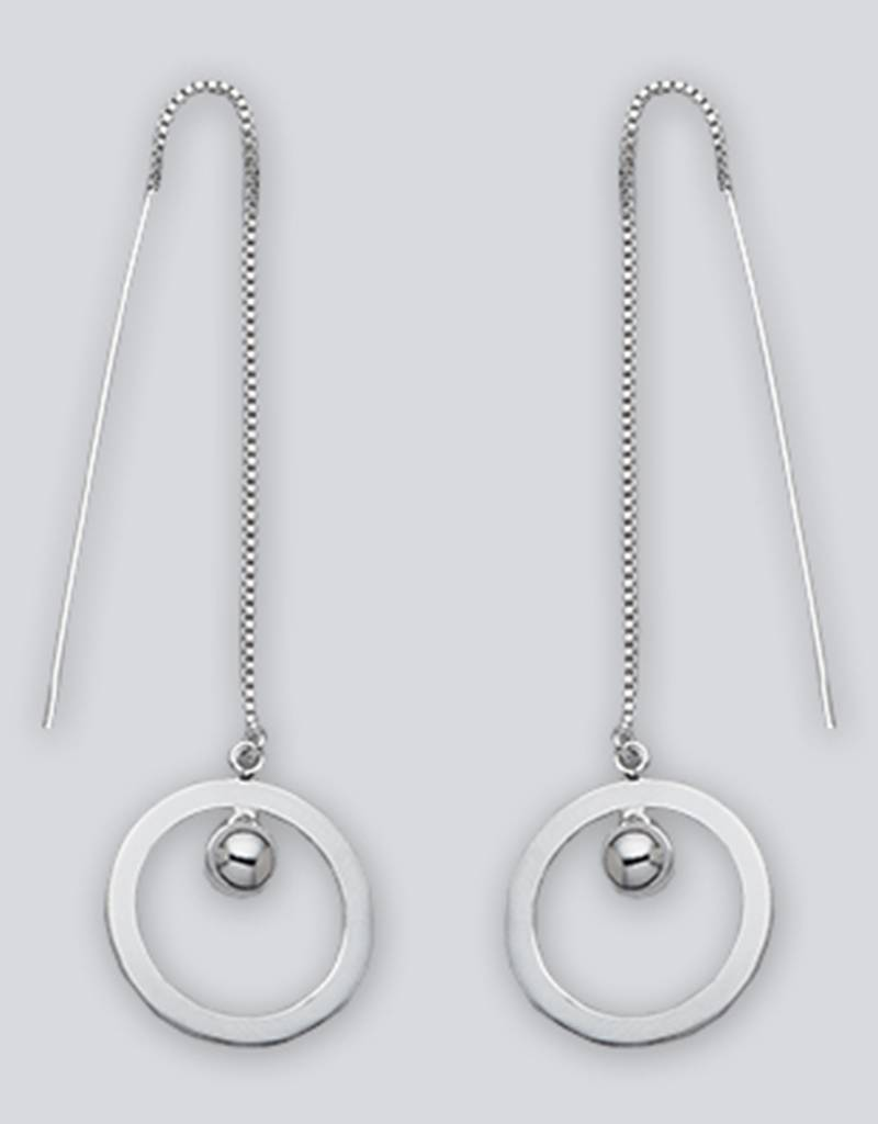 Circle Bead Threader Earrings