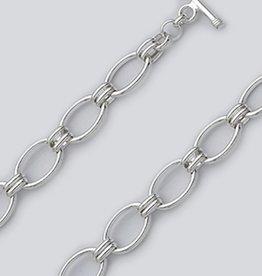 Oval Link Toggle Bracelet