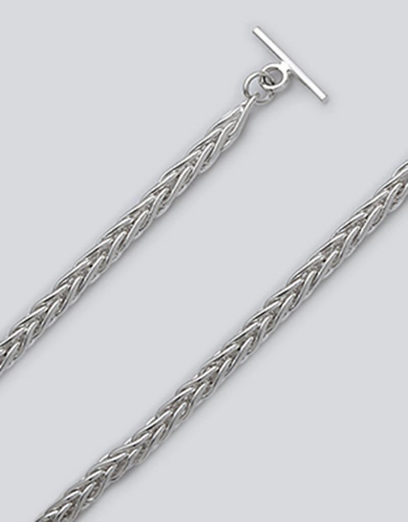 """Sterling Silver 5mm Wheat Chain Bracelet 7.5"""""""