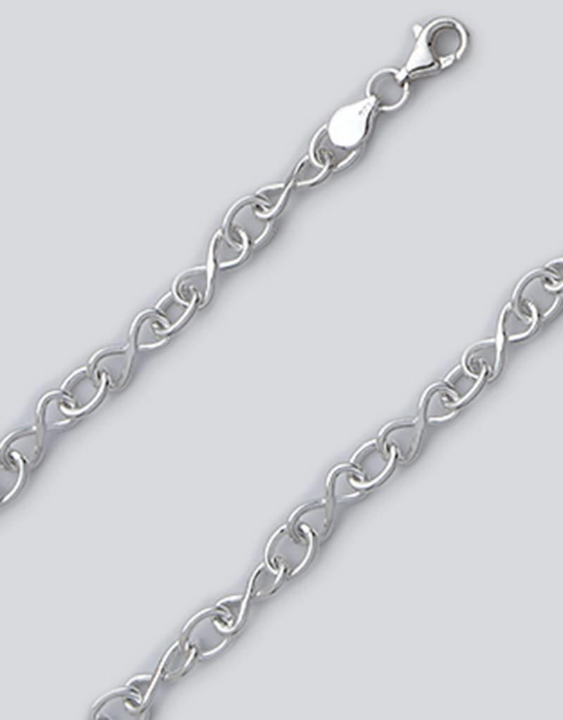 "Sterling Silver Infinity Link Bracelet 7"""
