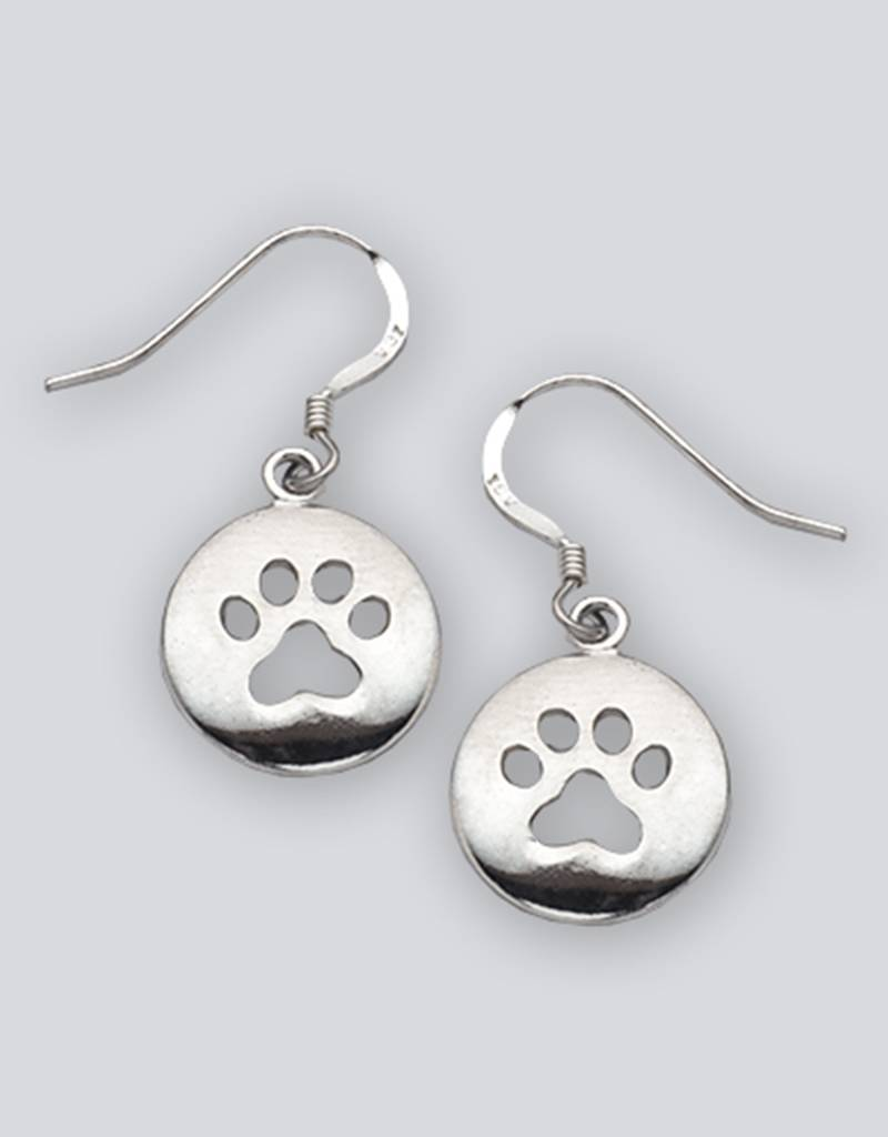 AZU Paw Print Earrings 15mm