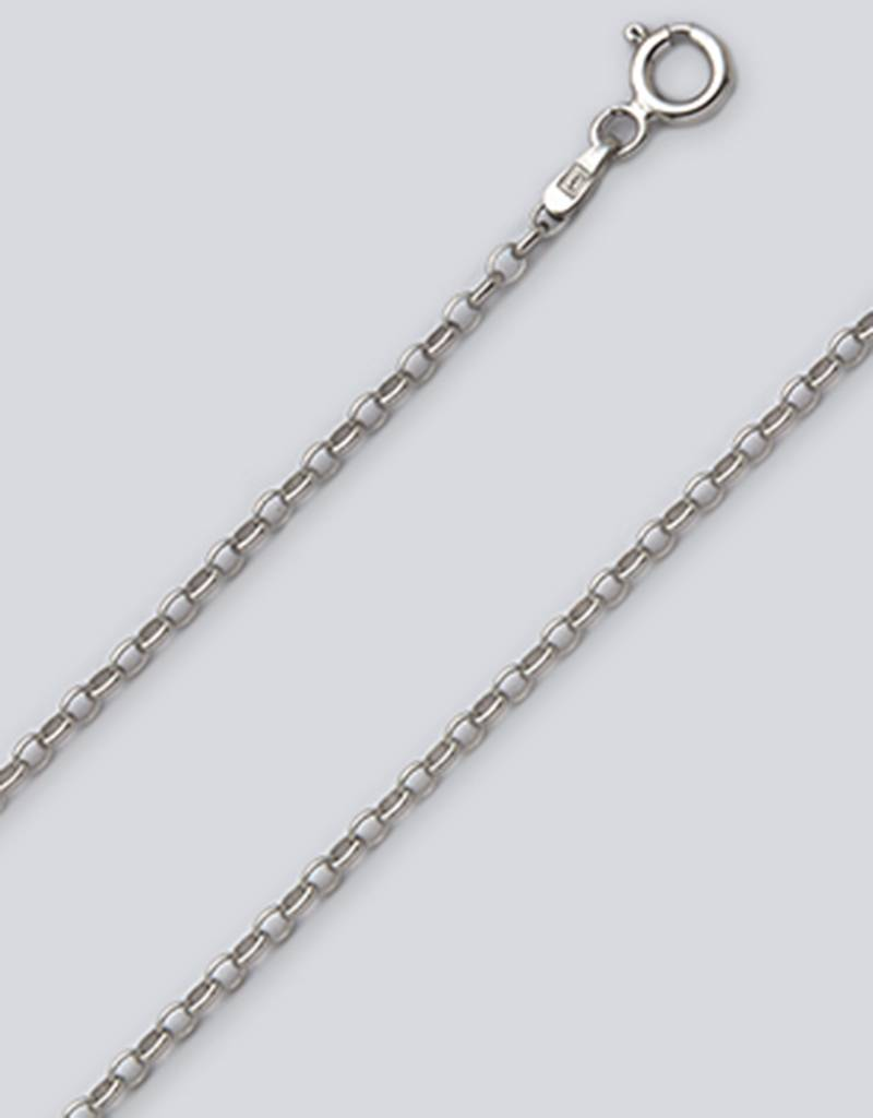 AZU Rolo 030 Necklace Rhodium