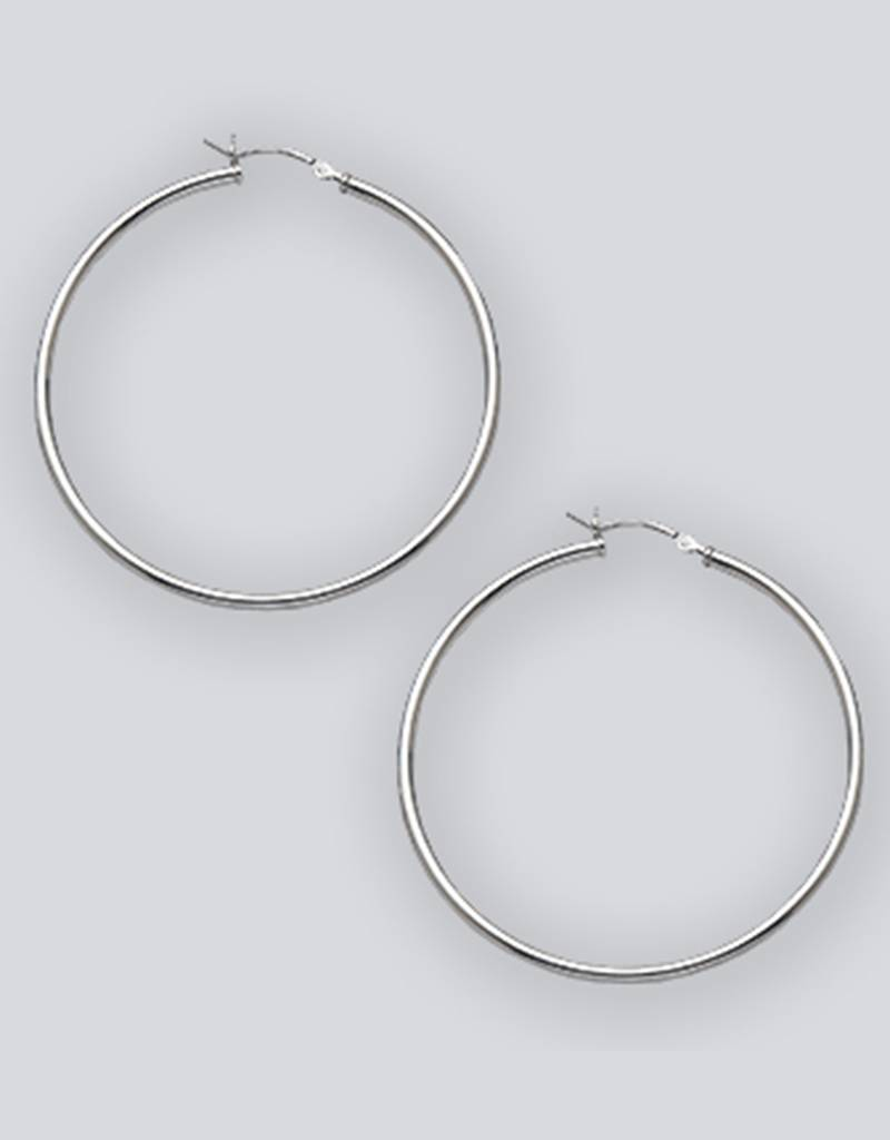 50mm Round Plain Hoop Earrings