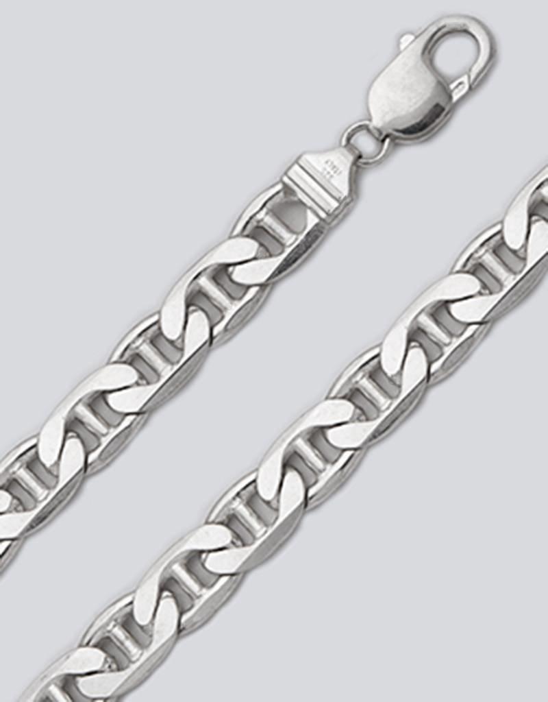 Sterling Silver Flat Marina 250 Bracelet