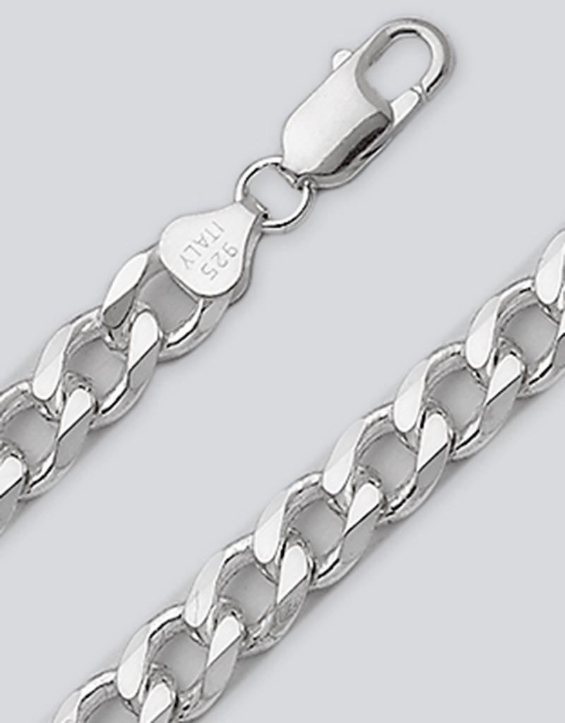 Sterling Silver Curb 220 Bracelet